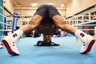 Anthony Joshua channels his every athletic virtue towards maximising his punching power. Photo / Getty Images