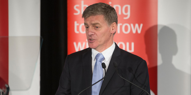 Prime Minister Bill English during his pre-Budget speech at a BusinessNZ lunch in Wellington. Photo / Mark Mitchell