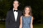 Pippa Middleton and her fiance, James Matthews arrive at Disability Snowsport UK's ParaSnowBall at London's Hurlingham Club. Photo / Austral