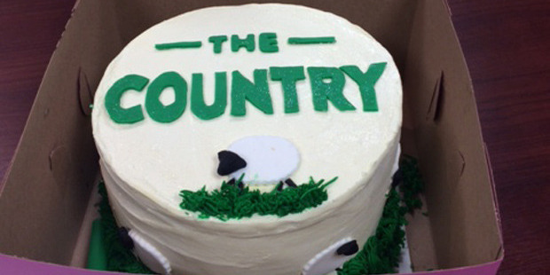 Changing from The Farming Show to The Country wasn't exactly a piece of cake writes Dom George... Photo / Supplied.