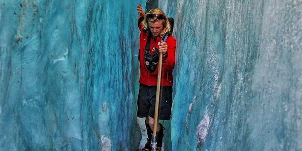 Hensley, a Franz Glacier guide, said he did not earn much money and didn't know how he would pay it back within the time given by Vodafone. Photo / Supplied