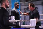 Izu Ugonoh is trained by Kevin Barry alongside Joseph Parker in Las Vegas. Photo / Photosport