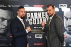 New Zealand heavyweight boxer Joseph Parker faces off against Romania's Razvan Cojanu. Photo / Photosport