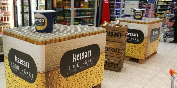 Nokian Panimo introduced a 1000 pack of its Keisari beer. Photo / Supplied