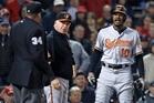 Baltimore Orioles centre fielder Adam Jones copped racial abuse in Boston. Photo / AP