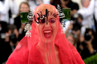 Katy Perry's Met Gala outfit may have revealed the title of her new album. Photo / AP