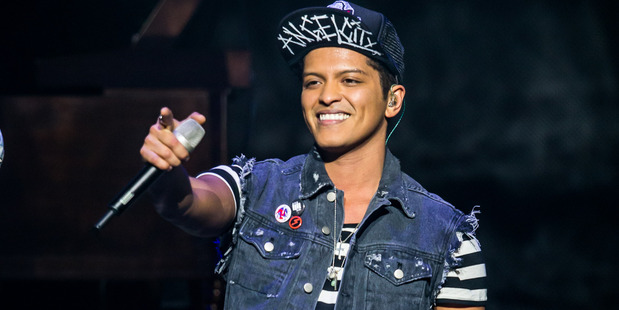 Bruno Mars performs at The Chelsea inside The Cosmopolitan in Las Vegas Supplied to the Herald on Sunday for use in HOS Living SUN 23Feb14 -