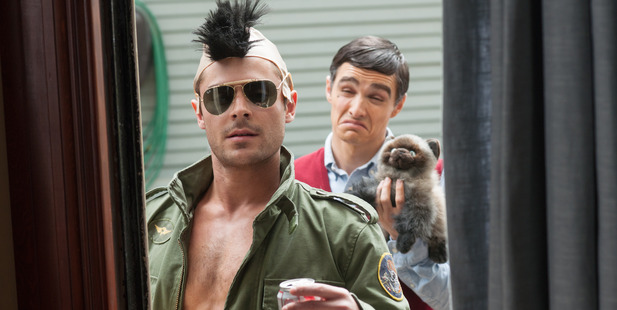 Zac Efron, left, and Dave Franco in a scene from Bad Neighbors. Photo / Supplied