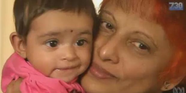 Baby Angel with her mother Shammi Pal. Photo / ABC
