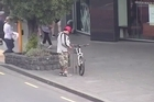 Auckland City police have released footage of brazen bike thieves in action, including a father teaching his son how to steal