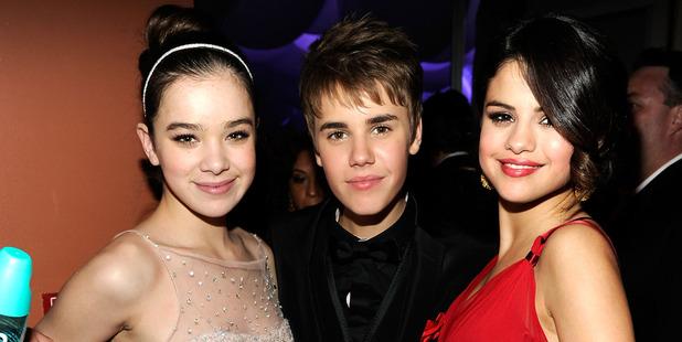 Hailee Steinfeld, Justin Bieber and Selena Gomez in 2011. Photo / Getty