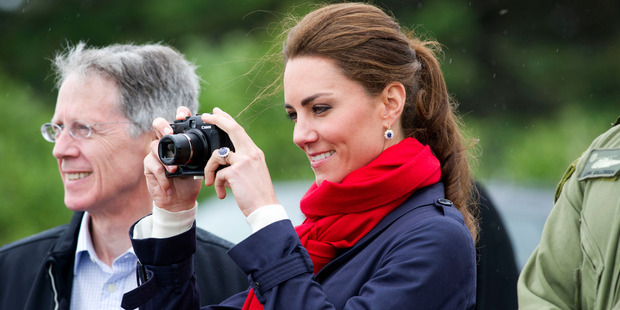 The Duchess of Cambridge has a penchant for photography and prefers to take photos of her children herself. Photo / Getty Images