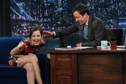Emma Watson during an interview with host Jimmy Fallon. Photo / Getty Images