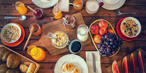 Another option if your day starts early is to eat breakfast as normal, eat your main meal at lunchtime and then have a light snack by 6pm. Photo / Getty