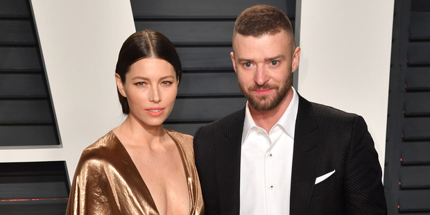 Jessica Biel and Justin Timberlake attend the 2017 Vanity Fair Oscar Party. Photo / Getty Images