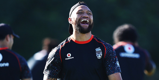 Veteran Warriors and Kiwis wing Manu Vatuvei will play for Tonga this weekend against Fiji in Sydney. Photo / Getty Images.