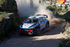 Hayden Paddon during Day Three of the WRC Argentina. Photo / Getty Images