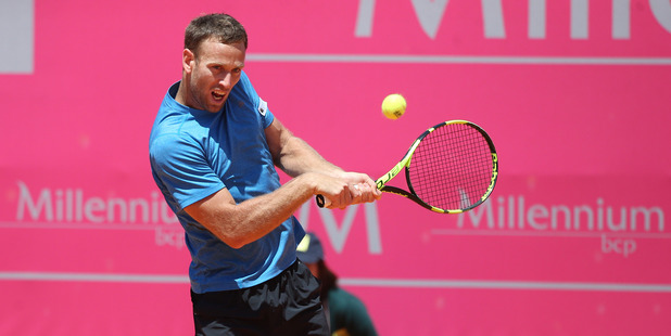 Michael Venus in action during the Estoril Open. Photo / Getty Images