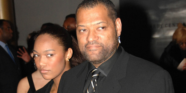 Laurence Fishburne (R) and daughter Montana Fishburne. Photo / Getty