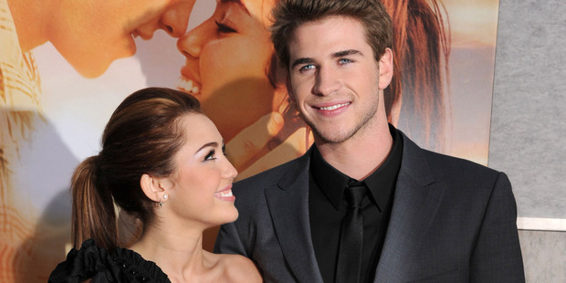 Miley Cyrus and Liam Hemsworth attends the The Last Song premiere in 2010. Photo / Getty
