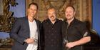 Invivo co-founders Tim Lightbourne and Rob Cameron with Graham Norton.