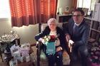 Madeline Anderson on her 110th birthday with Polish Ambassador Zbigniew Gniatkowski. Photo/Supplied