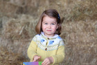 Princess Charlotte photographed by her mother Kate the Duchess of Cambridge. Photo released by Kensington Palace