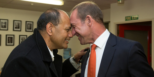 Loading Labour list candidate Willie Jackson with Labour leader Andrew Little at the Labour Party offices in Wellington. Photo / Mark Mitchell