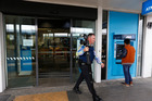 The scene of the armed hold up at ANZ bank in Glenfield. Photo / Dean Purcell