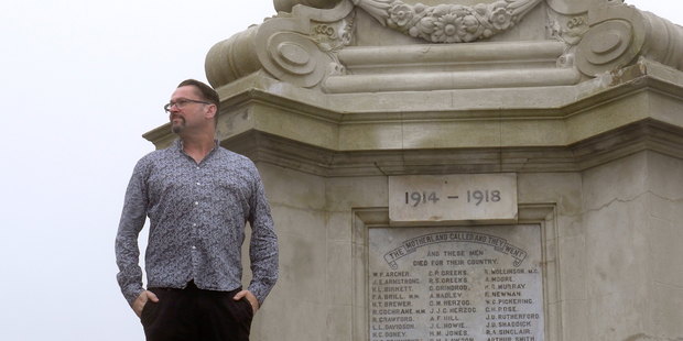 Acclaimed New Zealand composer Gareth Farr pays homage to those who died on the French and Belgium battlefields of WWI.  Photo:  Jeremy Brick.
