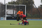 Curtis Boyde taking a shot at goal. Photo / Ilona Hanne