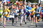 Children gave it their all as they completed their final 2km at the Rotorua Mini Marathon event. Photo/Ben Fraser
