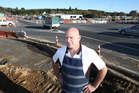 Garth Bostock's business has taken a hit as roadworks make it harder for customers to get to his shop, Bostock's Butchery. Photo/John Borren