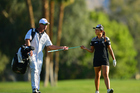 Whether caddie Gary Matthews and Lydia Ko will forge a lasting professional partnership in the women's circuit is the Kiwi world No 1's prerogative. Photo /Photosport