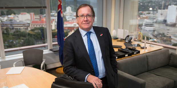Loading Outgoing Foreign Minister Murray McCully in his office at Parliament, Wellington. Photo/Mark Mitchell