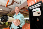 Electric car charging station at Bayfair. Bayfair Centre manager Steve Ellingford. Photo/file