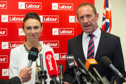 Labour Party deputy leader Jacinda Ardern and Labour Party leader Andrew Little. Photo/ Mark Mitchell