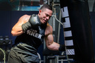 New Zealand Heavyweight Joseph Parker trains at Drilltech gym in East Tamaki. Photo / Nick Reed.