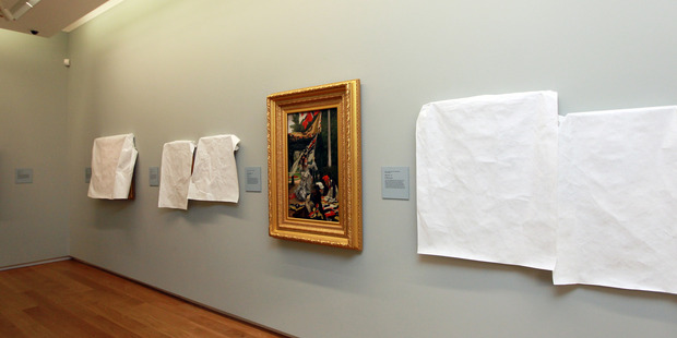 Tissot's masterpiece Still On Top back on display at the Auckland Art Gallery. Photo/ Doug Sherring.