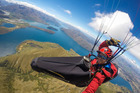 Paraglider Benjamin Letham died in a paragliding accident over Queenstown. Photo / Facebook