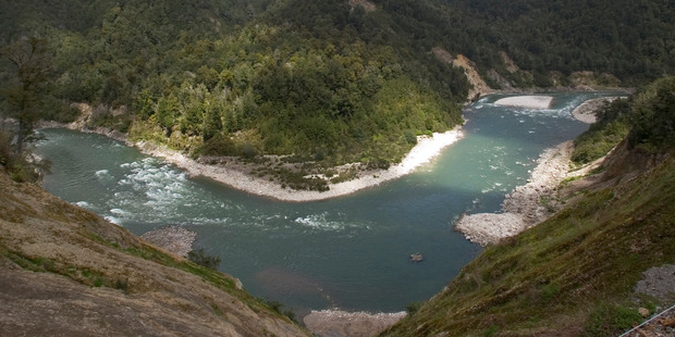 A man's body was pulled from the Buller River on Sunday evening. Photo/NZME