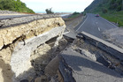 State Highway 1 on the coast at Kaikoura, near the Kekerengu Fault, was severely damaged in the November 14 7.8 earthquake. Photo / J Thomson, GNS Science