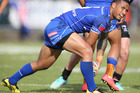 Samoa came extremely close to upsetting both England and the Kiwis in the 2014 Four Nations tournament. Photo / John Stone