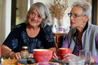 Grey Power's Beverley Aldridge (left) and Kathleen Pattinson want cannabis legalised, despite never having used the drug. Northern Advocate Photograph by John Stone