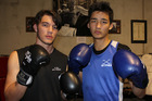 Kyle Chen (right) is ready for the biggest year of his young boxing career. Pictured here with fellow up-and-comer Floyd Chadwick. Photo/Peter de Graaf