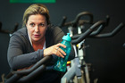 Sophie Shield, of Havelock North, trains at Peak Fitness for  the Hawkes Bay Marathon. Photo/Warren Buckland