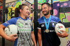 Husband and wife Jeda and Anaru Bartlett own and operate Evolution Fitness Hastings where the template for the Outkast club is laid for netball and touch. Photo / Warren Buckland