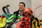 Hawke's Bay Today news editor James Ford in among some of the gear for the annual Bring Yer Boots campaign. Photo/ Duncan Brown.