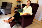 Tanya Filia, one of several patients who have IV treatment at Environmental Health Clinic, set out to get at least one comfortable, new recliner. (Photo/John Stone)
