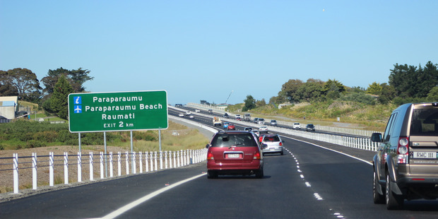 The Peka Peka Expressway opened to traffic in March this year. Photo: David Haxton